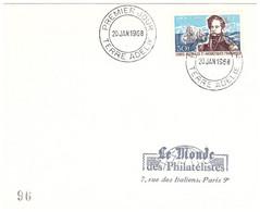 TAAF TERRE ADELIE 20 01 1968 1ER JOUR N° 25 - Cartas