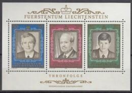 LIECHTENSTEIN  Block 13, Postfrisch **, 50. Jahrestag Der Thronbesteigung Von Fürst Franz Josef II., 1988 - Blocchi & Fogli