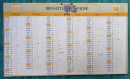 Grand Calendrier De Bureau 1961 BROSSETTE-VALOR Afrique - Métaux Aciers - Big : 1961-70