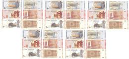 Syria - 5 Pcs X Set 3 Banknotes 50 + 100 + 200 Pounds 2009 / 2019 UNC Lemberg-Zp - Syria