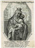S. MARIA CARMELI - Ancienne Gravure Sur Cuivre / Oude Kopergravure / Old Copperplate  - Graveur COLLIN  - 7,5 X 10,5 Cm. - Santini