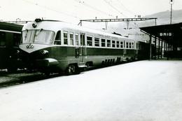"Brig. Rame Trans Europ Express ALn 442/448 Des FS. TEE ""Lemano"" Milan - Genève. Cliché Jacques Bazin. 09-09-1963 - Treinen"