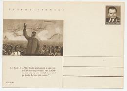 Postal Stationery Czechoslovakia 1951 Stalin - Non Classificati