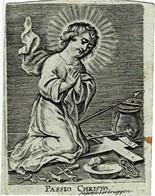 PASSIO CHRISTO -  Ancienne Gravure Sur Cuivre / Oude Kopergravure / Old Copperplate  - Grav. VERBRUGGEN - 7 X 9,5 Cm. - Santini