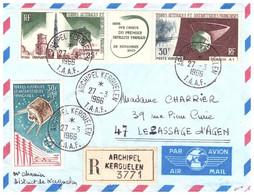 TAAF KERGUELEN 27 03 1966 AVEC PA 9 ET 11A - Cartas
