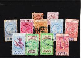 Ile MAURICE, Lot De Timbres Fiscaux  Période Anglaise TE - Mauritius (1968-...)