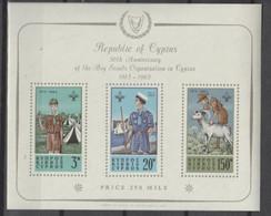 CYPRUS 1963, Mi# Bl 1, CV €150, Scout, MNH - Cartas