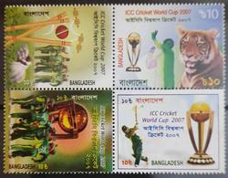 138.BANGLADESH 2007 SETENANT STAMP ICC CRICKET WORLD CUP . MNH - Bangladesh