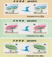 (SS142) NORTH KOREA, 1997 (Air Koryo). 3 Sheetlets. Mi ## 3964-3966. MNH** - Corea Del Nord