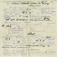 STAVELOT, Ortskommandantur, 1917, Amende Pour Avoir Transporté 7 Kilos De Farine Sans Autorisation, Ww1 - Stavelot