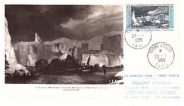 TAAF TERRE ADELIE 20 01 1965 CARTE EPF  MAXIMUM PA 8 - Cartas