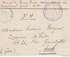 WW1 LFM  De Fos Haute Garonne. COMMISSARIAT SPECIAL DE FOS. MINISTERE DE L INTERIEUR - WW I