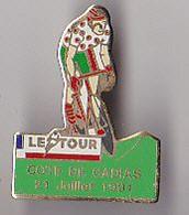 PIN'S THEME SPORTS / CYCLISME TOUR DE FRANCE  21 JUILLET 1991  COTE DE CADIAS DANS LE DEPT  DE L'AVEYRON - Ciclismo