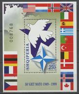 Albanie - Albanien - Albania Bloc Feuillet 1999 Y&T N°BF93 - Michel N°B(?) *** - 250l 50 Ans De L'OTAN - Albanie