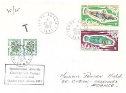TAAF TERRE ADELIE 28 11 1972 IAGP - Cartas