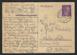 BOHEME Et MORAVIE 1944: LSC Entier De 6p De Vollmerhausen (Bohème, Alors Sous Protectorat Allemand) Pour Prague - Storia Postale