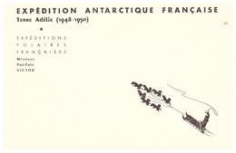 TAAF TERRE ADELIE CARTE EPF 1948 1950 VIERGE - Cartas