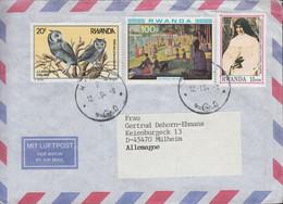 Ruanda - Luftpostbrief - Allemagne - 3x Nice Stamps - Sonstige