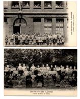Colonie Scolaire De Sèvres (les Enfants Des Flandres) : 2 Cpa - Guerra 1914-18