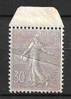 France Maury N° 133j Superbe Variété Pli D'accordéon Neuf ** MNH. Gomme D'origine. TB. A Saisir! - Curiosidades: 1900-20 Nuevos