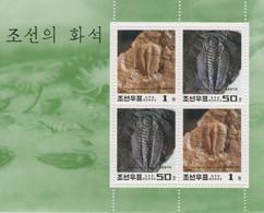 (SS144) NORTH KOREA, 1997 (Fossils). Sheetlet. Mi ## 3944-3945. MNH** - Corea Del Nord