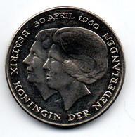 Pays Bas -  2.5 Gulden 1980 SUP - 1980-… : Beatrix
