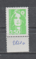 FRANCE / 1993 / Y&T N° 2821a ** : Briat 3F50 Vert-jaune (1 Bande PHO à Gauche) X 1 BdF D - Unused Stamps