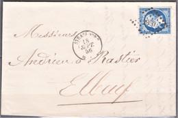 Lettre Du 18 Septembre 1856 , Petit Chiffre  2950, Strasbourg, Département 57 - 1849-1876: Klassik
