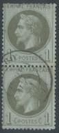 Lot N°60910  Paire Du N°25, Oblit Cachet à Date De Monaco, Alpes-Maritimes (87), Ind 19 - 1863-1870 Napoleon III With Laurels