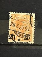 Denmark 1926 20 On 40o Orange Used Mi 151 Yv 172 Sc 176 - Used Stamps
