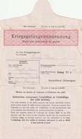WW2 STALAG XI A GERUFT 14 Formule Complete Contenant Un Bon Expédition Pour Colis. Censure Pour Toulon. - WW II