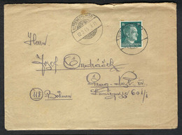 BOHEME Et MORAVIE 1945: LAC Rec. De Niedersessmar (Bohème, Alors Plus Sous Protectorat Allemand !!!) Avec TP Allemand - Storia Postale