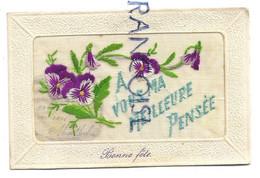 """Bouquet De Pensées:"""" A Vous, Ma Meilleure Pensée"""" - Embroidered"""