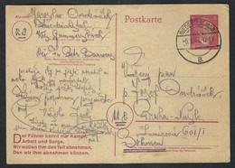 BOHEME Et MORAVIE 1945: CP Entier Allemand De 6p De Niedersessmar (Bohème, Alors Plus Sous Protectorat Allemand !!!) - Storia Postale
