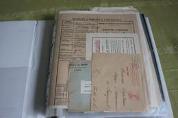Lot De Vieux Papiers Divers ( Mandats, Publicité . ...) - Zonder Classificatie