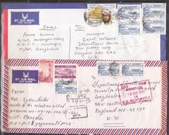 8 Lettres Du Bangladesh (ref L A596) - Bangladesh