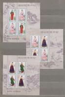 (SS148) NORTH KOREA, 1997 (Traditional Korean Women's Costumes). 3 Sheetlets. Mi ## 3955-3958. MNH** - Corea Del Nord