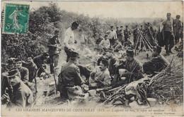 45  Courtenay  -    Les Grandes Manoeuvres 1911,l'appetit Est Bon, Le Repos Est Meilleur - Courtenay