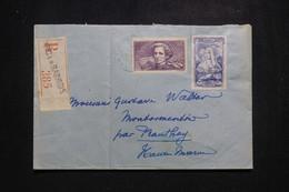 FRANCE - Enveloppe En Recommandé De Arc En Barrois Pour Prauthoy En 1944, Affranchissement Berlioz/ Coiffe - L 97124 - 1921-1960: Modern Tijdperk