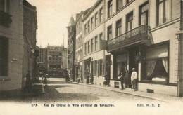 SPA - Rue De L'Hôtel De Ville Et Hôtel De Versailles - N'a Pas Circulé - Spa