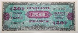 France - 50 Francs - 1944 - PICK 122a / VF24.1 - SUP+ - 1945 Verso France