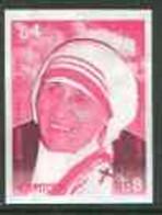 Bangladesh 1999 Mother Teresa Commemoration 4t U/m Imperf Proof In Magenta & Black Only - Bangladesh