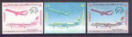 Bangladesh 1999 Airliners 6t Imperf Progressive Proofs In Magenta & Black And Blue & Yellow, Both U/m UPU - Bangladesh