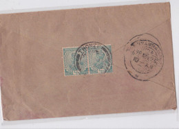 THONZE Burma British India George V Stamp Mail Cover To Karaikudi Via Madras Franking Lettre Birmanie Britannique 1925 - Burma (...-1947)