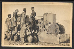SOMALIA ITALIANA DONNE AL POZZO ISTITUTO COLONIALE FASCISTA NON VG. F./PICCOLO N° B490 - Somalia