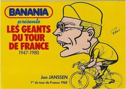 CYCLISME. Carte BANANIA Tour De France 1981 De Jan JANSSEN (dessin De Pellos). - Cycling