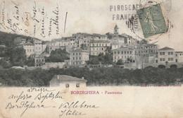 CP Affranchie 15c Semeuse Oblit BORDIGHERA (Italie)  PIROSCAFO FRANCESE Pour Toulon. Arrivée Toulon - Maritime Post