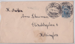 LAPPEENRANTA Finland Suomi Imperial Russia Postal Stationery Mail Cover Helsingfors Entier Finlande Russie Impériale - Covers & Documents