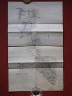 Carte Ligne De Chemin De Fer De YUNNAN  à  LAO KAY  Indochine Chine Vietman Viêt Nam Fleuve Rouge Années 40's - Other