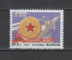 (SA1160) NORTH KOREA, 1997 (65th Anniversary Of Korean People's Army). Mi # 3925. MNH** Stamp - Corea Del Nord